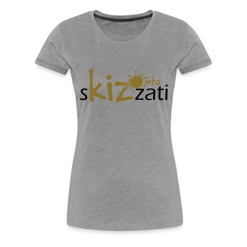 Beanie in jersey con logo sKizzati Kizomba - Verde - Maglietta Premium da donna