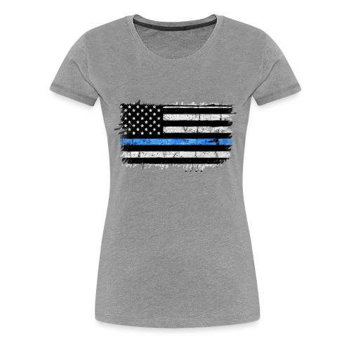 police back the blue flag - Camiseta premium mujer