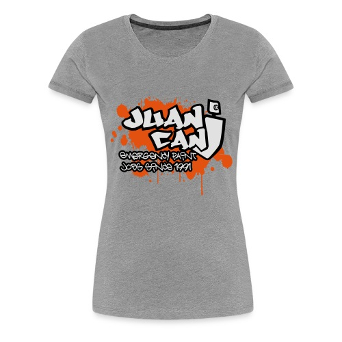 Juan can logo for spreadshirt Orange - Women's Premium T-Shirt