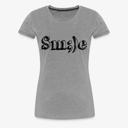 Smile ;) - Frauen Premium T-Shirt