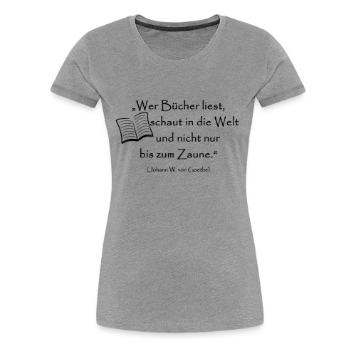 Bücher lesen - Frauen Premium T-Shirt