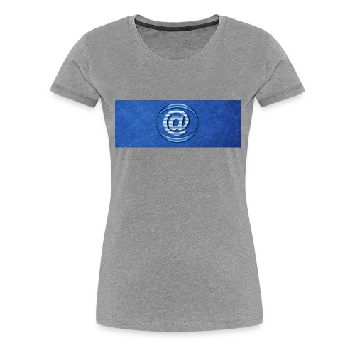 At Sign Dark Blue - Vrouwen Premium T-shirt