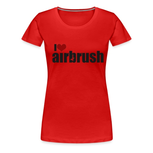 I Love airbrush - Frauen Premium T-Shirt