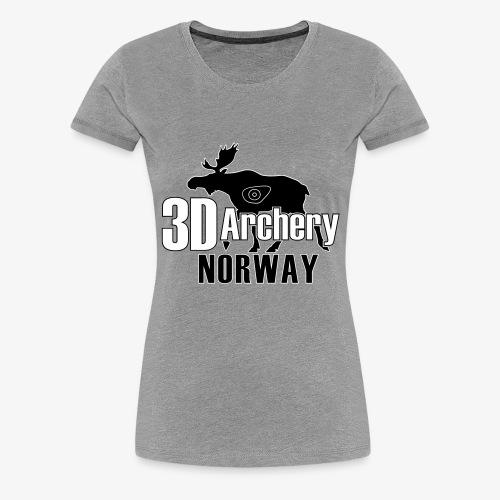 logo 3darchery no - Premium T-skjorte for kvinner