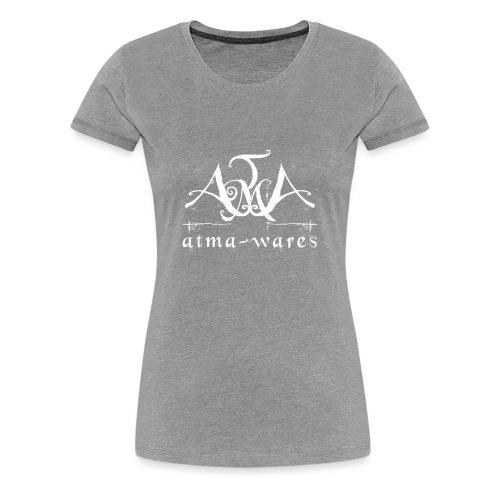 atma wares logo white - Vrouwen Premium T-shirt