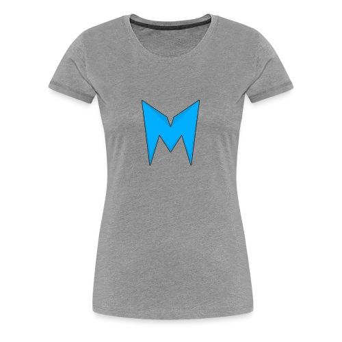 Tee-shirt Madcrow Noir & Logo Bleu - T-shirt Premium Femme