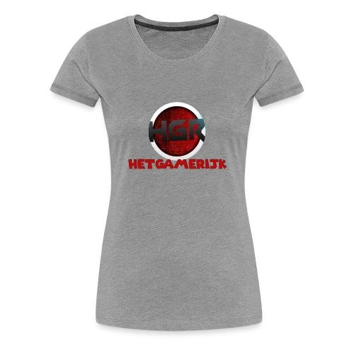 HetGameRijk logo + tekst - Vrouwen Premium T-shirt