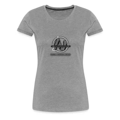 ArchitectJ_Logo_with_Slogan_-transparent_backgroun - Vrouwen Premium T-shirt