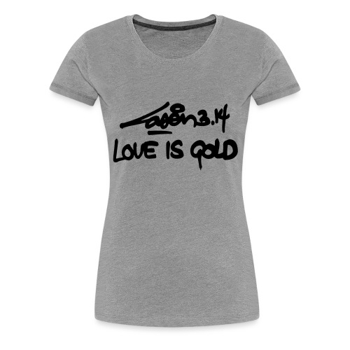 loveisgold kids shirt - Women's Premium T-Shirt