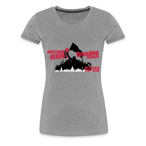 Dresden Demo rot - Frauen Premium T-Shirt