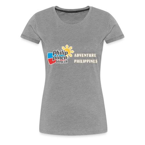 Philippinen-Blog Logo english orange/weiss - Frauen Premium T-Shirt