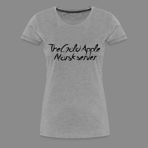 TheGoldApple Norsk server - Premium T-skjorte for kvinner