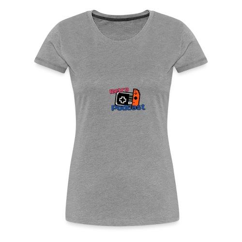 Retro Podcast Logoen - Premium T-skjorte for kvinner