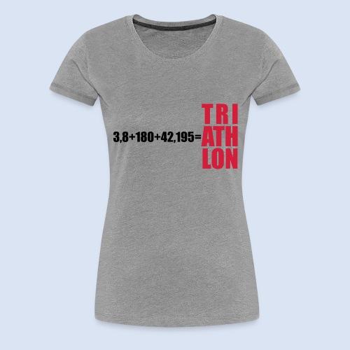 Triathlon Swim Bike Run - Frauen Premium T-Shirt