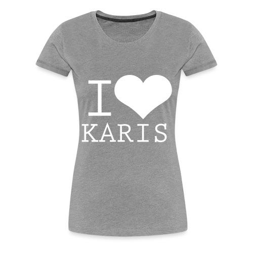 I HEART KARIS full white - Naisten premium t-paita