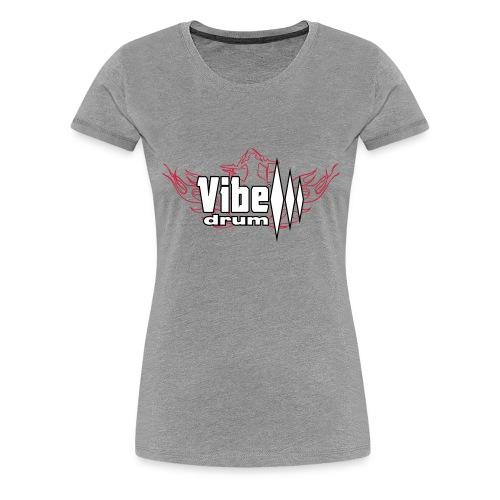 Vibe_Drum_Logo_Flames - Maglietta Premium da donna