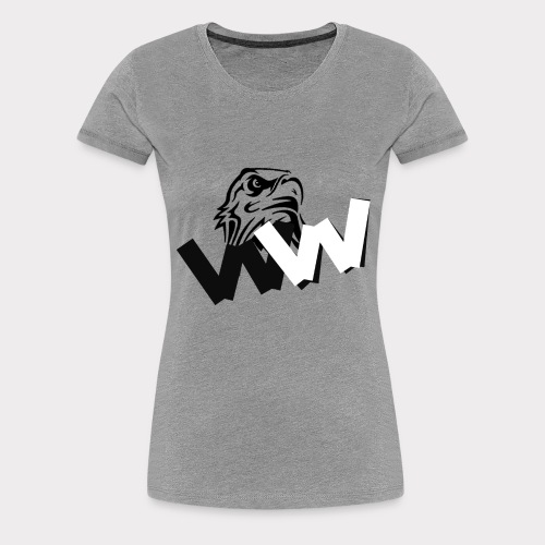 White and Black W with eagle - Women's Premium T-Shirt
