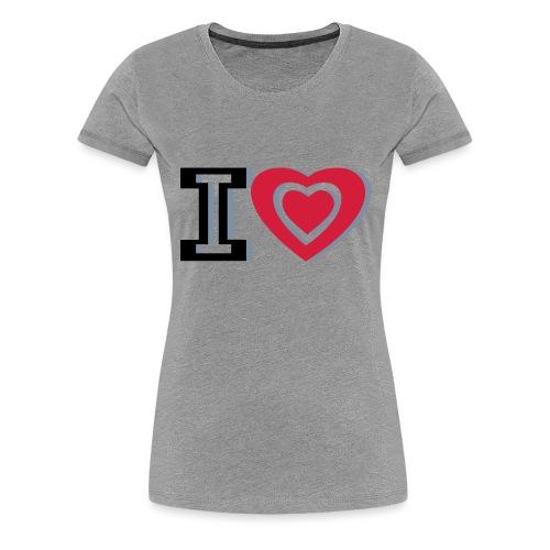 I LOVE I HEART - Women's Premium T-Shirt
