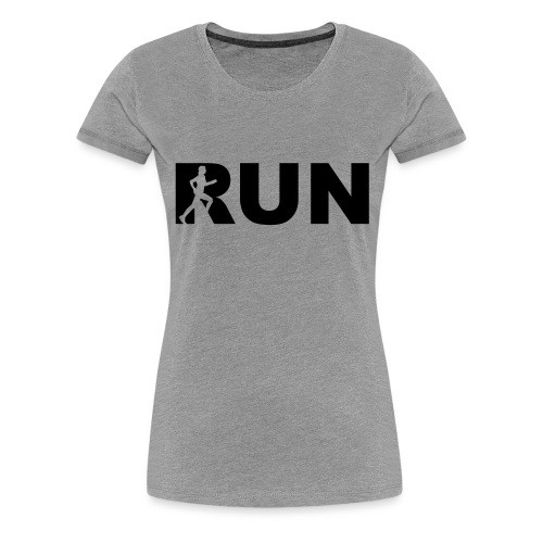 run running woman - Frauen Premium T-Shirt