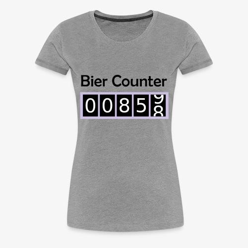 Biercounter / Bierzähler deutsch - Frauen Premium T-Shirt