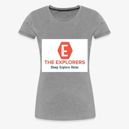 logo white background - Women's Premium T-Shirt