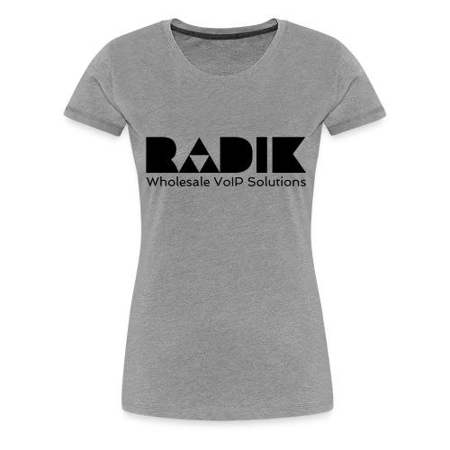 radik logo 1kleur wholesalevoipsolutions - Vrouwen Premium T-shirt