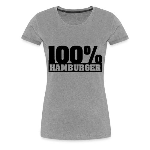 100% Hamburger Typo 2 - Frauen Premium T-Shirt