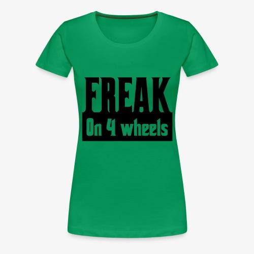 Gek op vier rolstoel wielen - Vrouwen Premium T-shirt