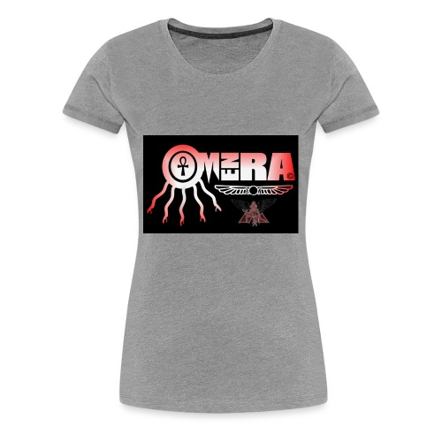 OMEN RA RED AND BLACK LOGO - Women's Premium T-Shirt