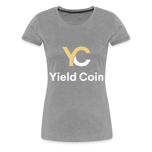 Gold and White Combination - Women's Premium T-Shirt
