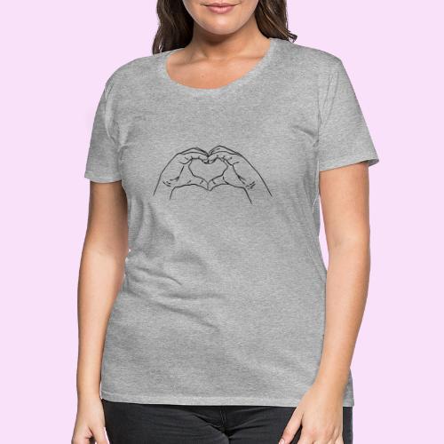 Herz Hand Geste - Frauen Premium T-Shirt