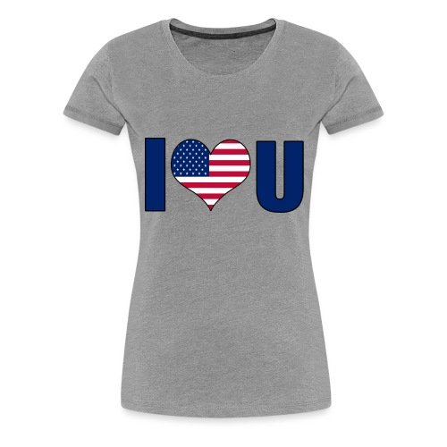 I love u USA - Premium T-skjorte for kvinner