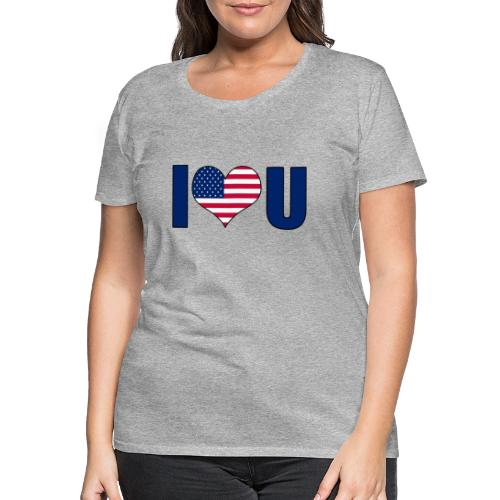 I love u USA - Women's Premium T-Shirt