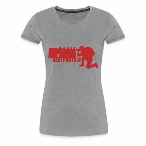 Logo Albyphoto Red - Maglietta Premium da donna