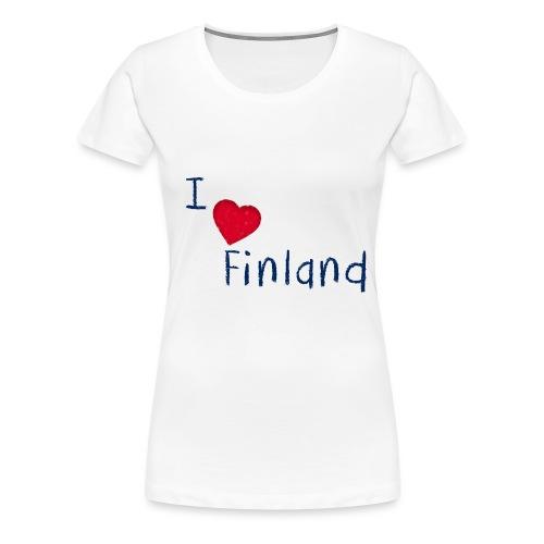 I Love Finland - Naisten premium t-paita