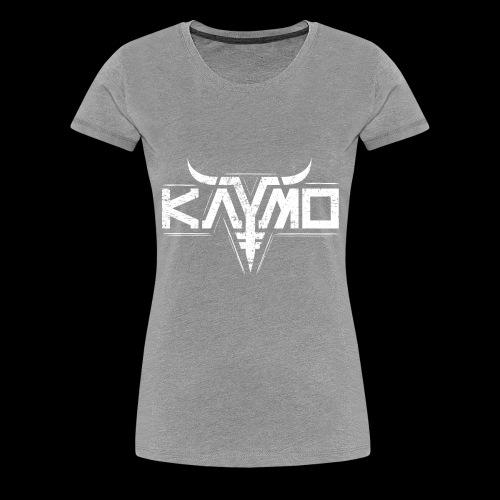 LOGO ALONE GRUNGE FOR DIGITAL PRINT ONLY WHITE - Premium T-skjorte for kvinner
