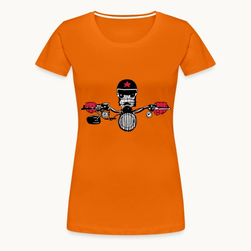 Motard Micky on the Road - T-shirt Premium Femme