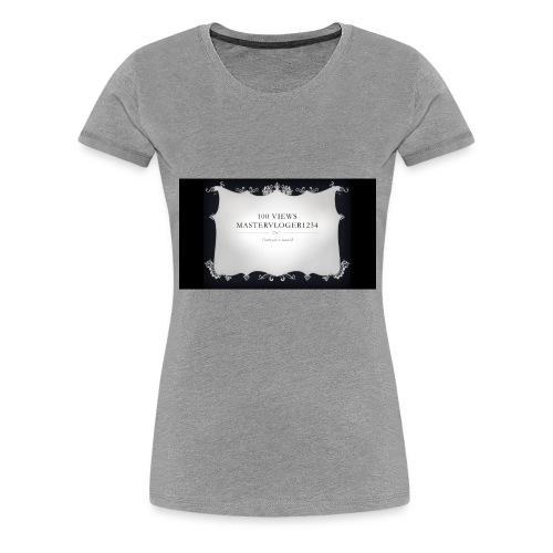 we hit 100 views - Women's Premium T-Shirt