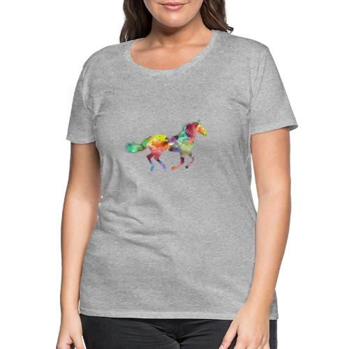 Rainbow Pferd - Frauen Premium T-Shirt