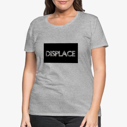 Displace Cracked Black - Frauen Premium T-Shirt