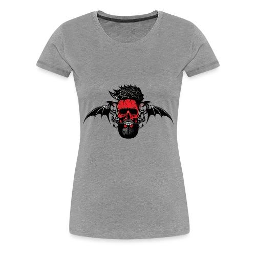 tete de mort hipster dragon tribal skull barbu mou - T-shirt Premium Femme