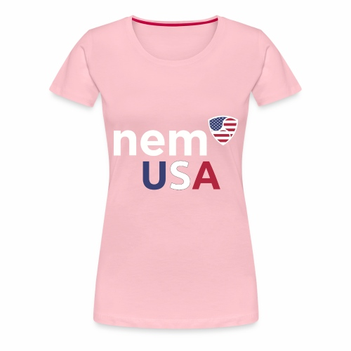NEM USA white - Maglietta Premium da donna