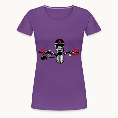 Motard Micky on the Road - T-shirt Premium Femme