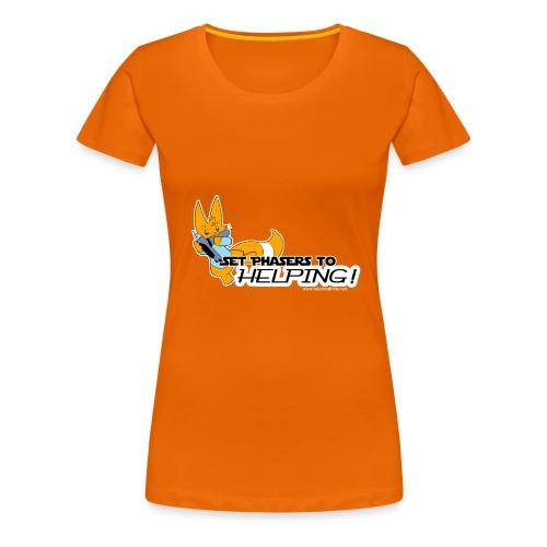 Set Phasers to Helping - Women's Premium T-Shirt