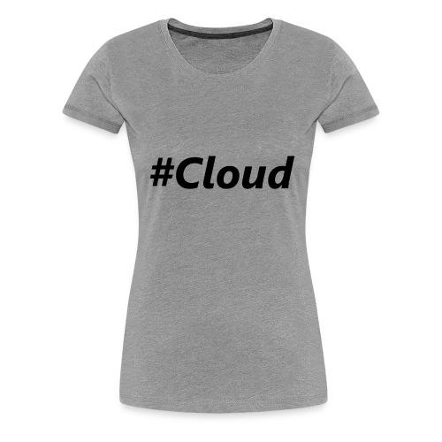 #Cloud black - Frauen Premium T-Shirt