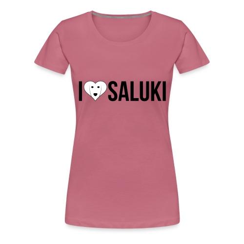 I Love Saluki - Maglietta Premium da donna