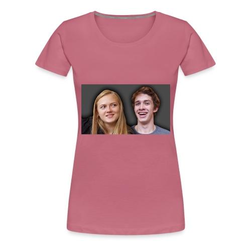 Profil billede beska ret - Dame premium T-shirt