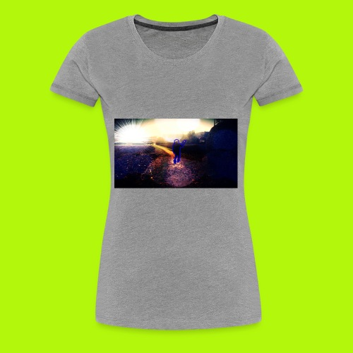 Hoodie Grau | Handyhülle samsung - Frauen Premium T-Shirt