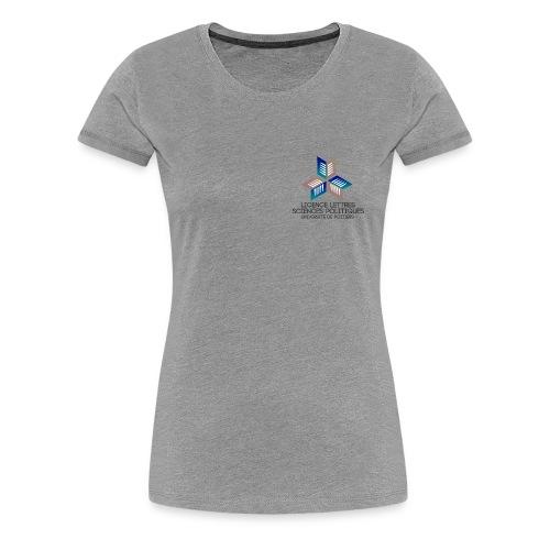 Lettres scpo bleu - T-shirt Premium Femme
