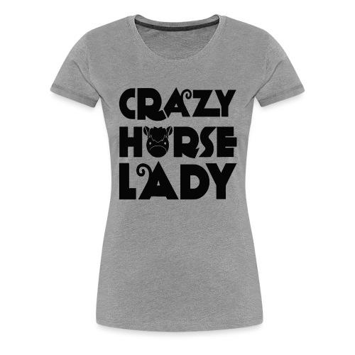 Crazy Horse Lady - Women's Premium T-Shirt